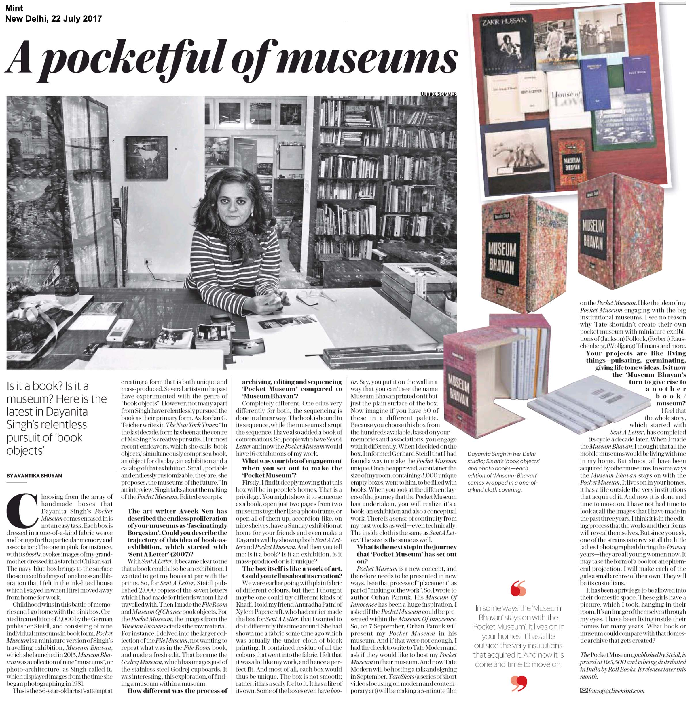 The Pocket Museum <br> <span>Mint, New Delhi</span>