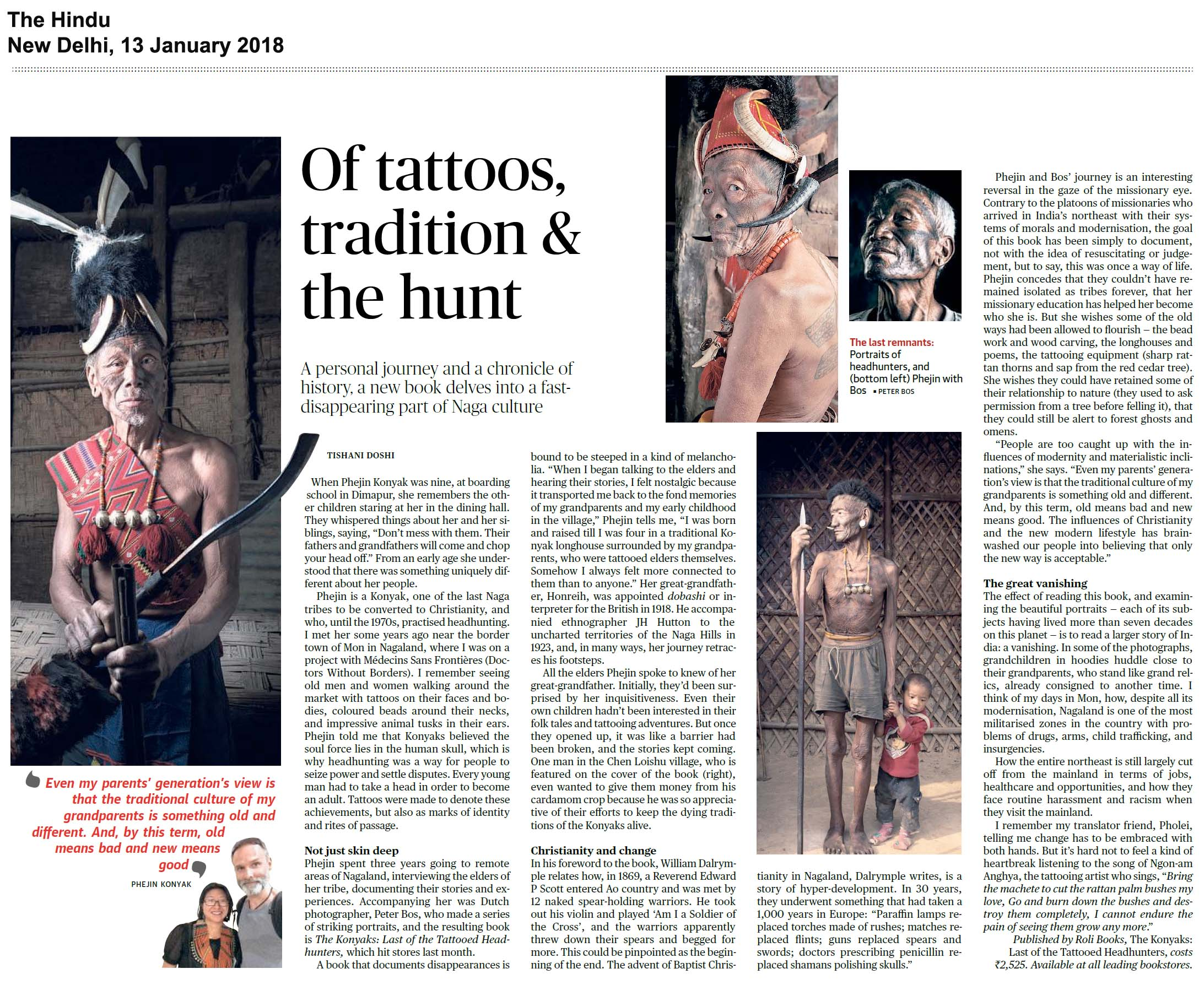 The Konyaks: The Last of the Tattooed Headhunters<br><span>The Hindu, New Delhi</span>