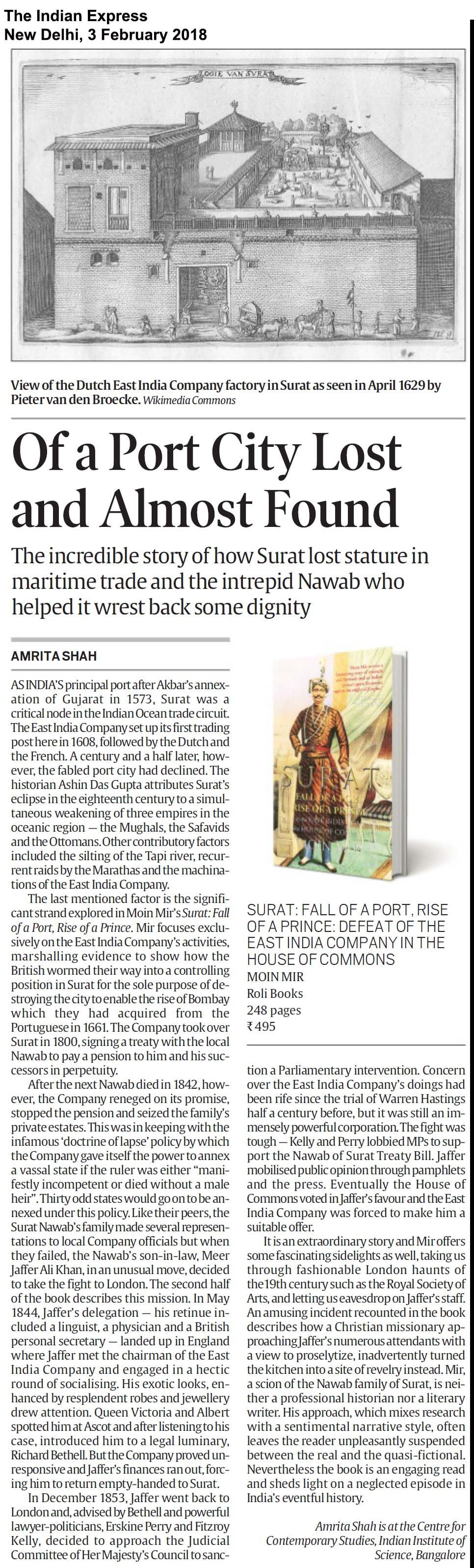Surat: Fall of a Port, Rise of a Prince<br><span>The Indian Express, New Delhi</span>