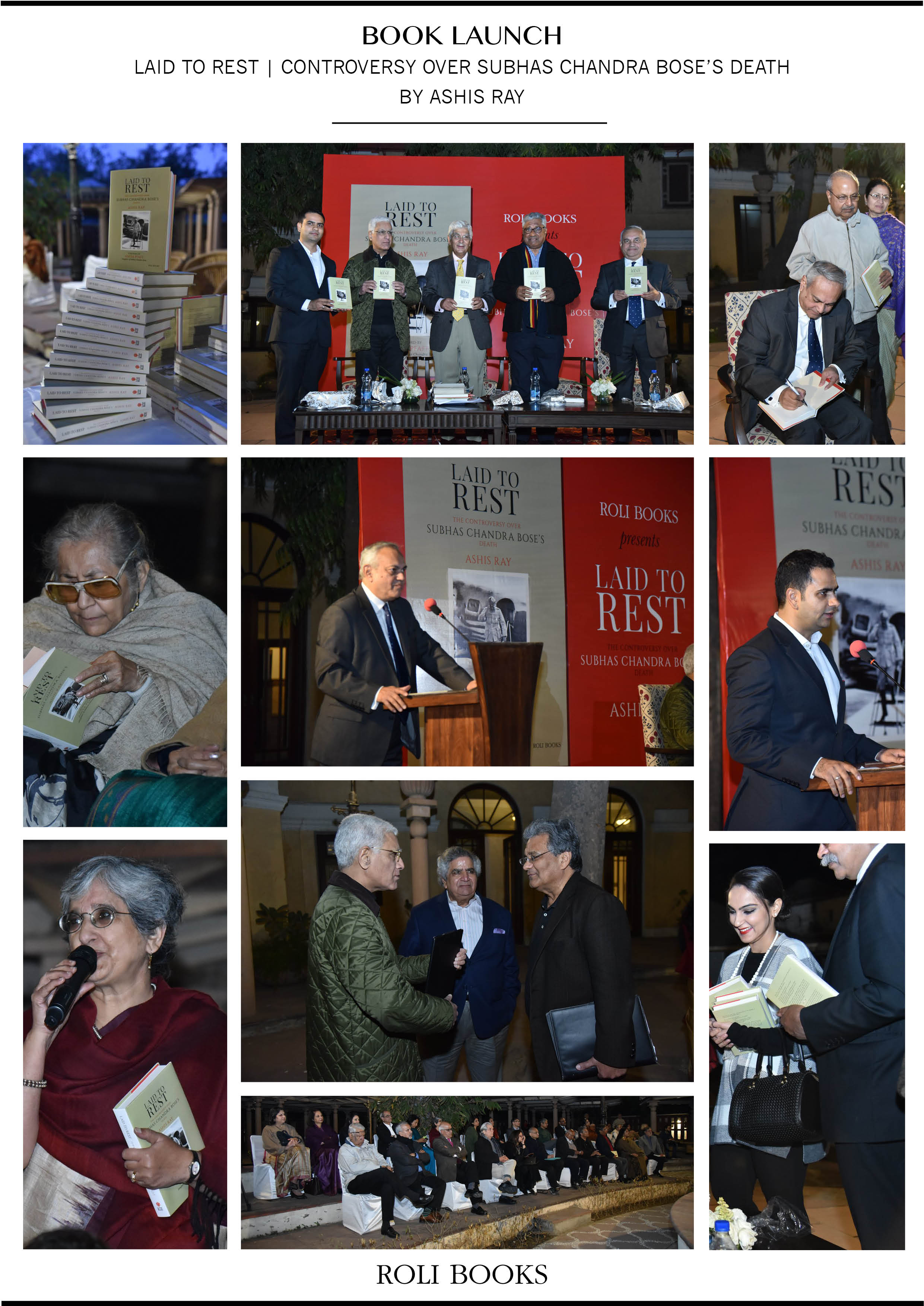 Book Launch <br><span> Laid To Rest by Ashis Ray, New Delhi </span>