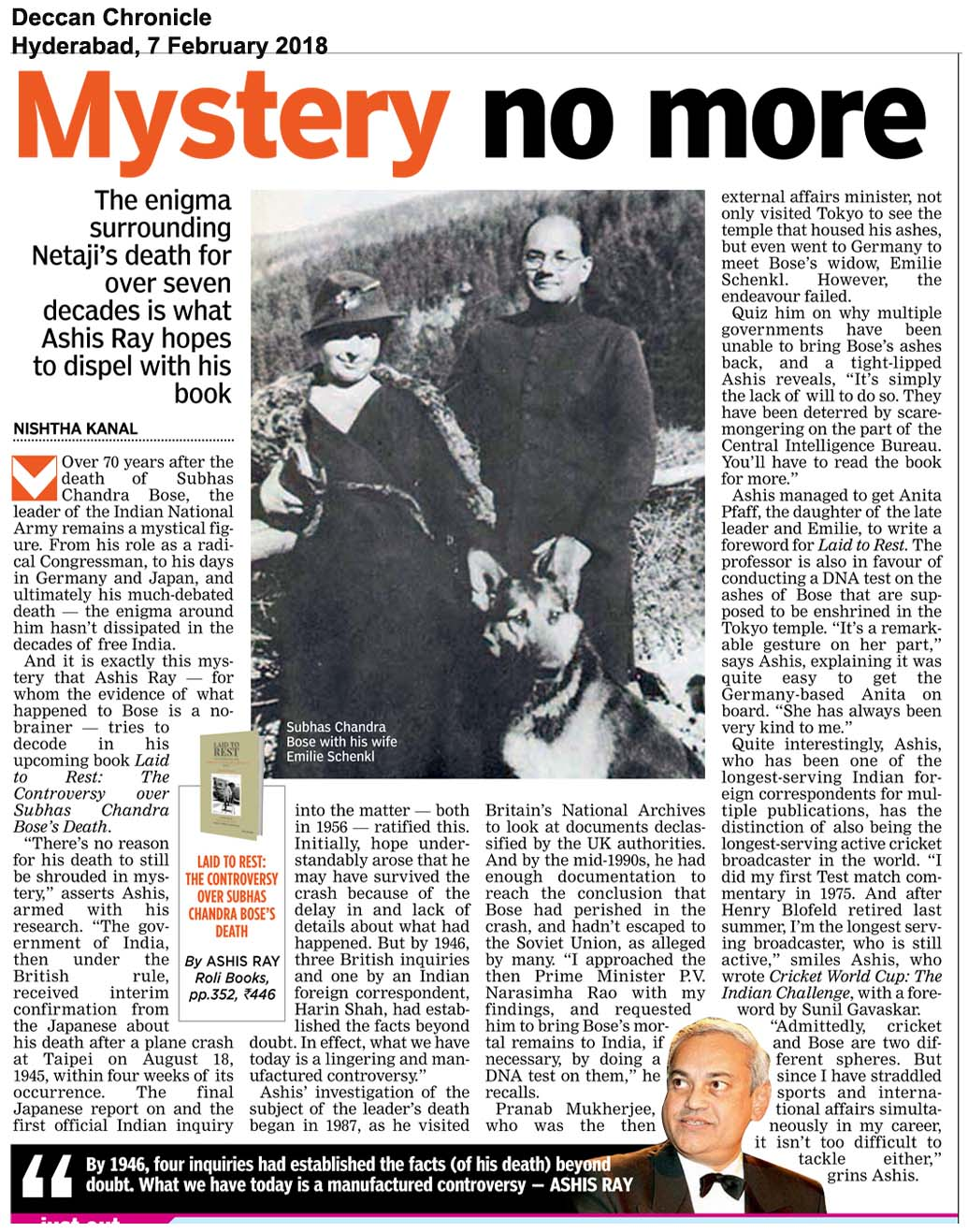 Laid To Rest <br><span>Deccan Chronicle, Hyderabad </span>