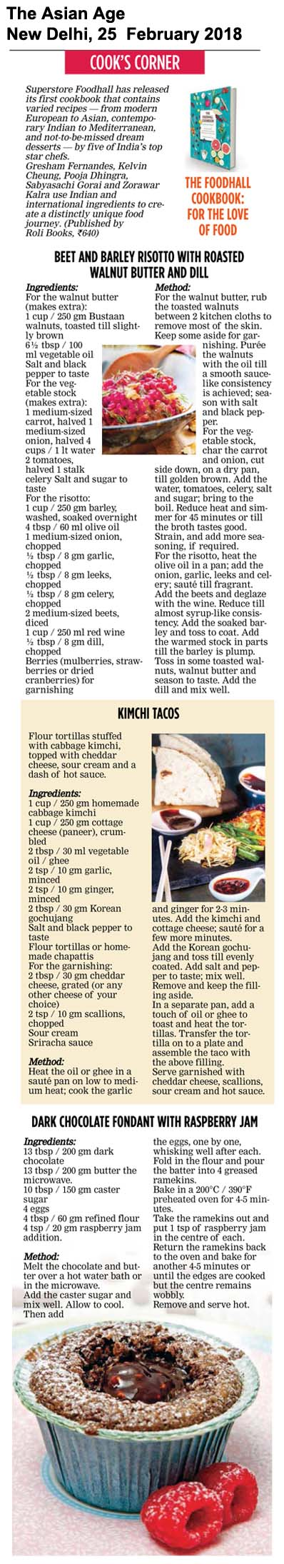 Foodhall Cookbook<br><span>The Asian  Age, New Delhi</span>