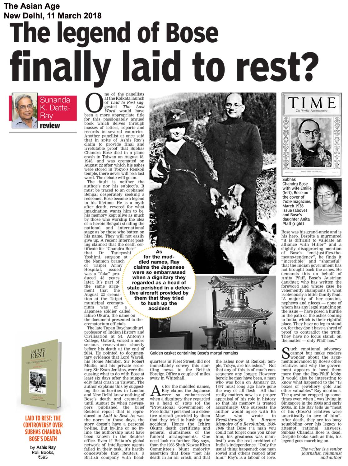 Laid to Rest<br><span>The Asian Age, New Delhi</span>