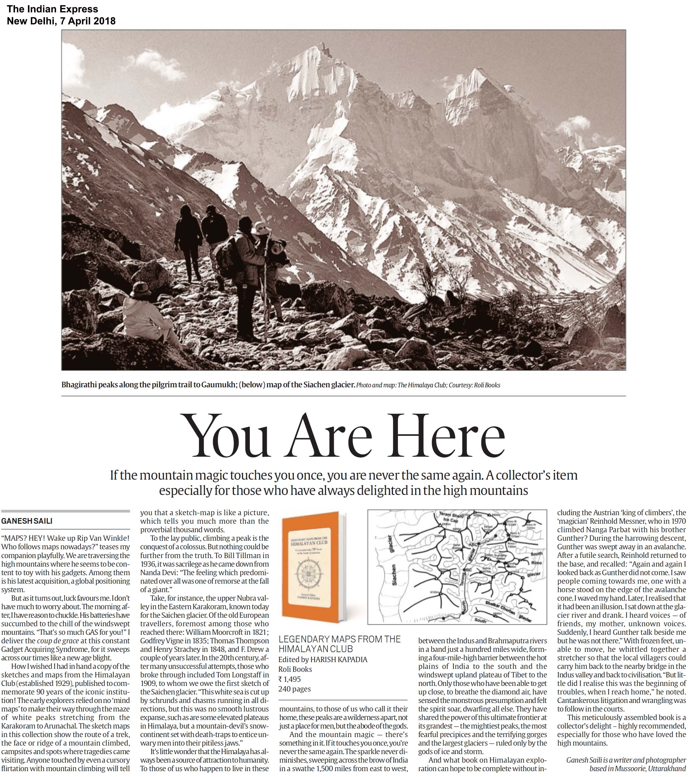 Legendary Maps From The Himalayan Club<br><span>  The Indian Express, New Delhi</span>