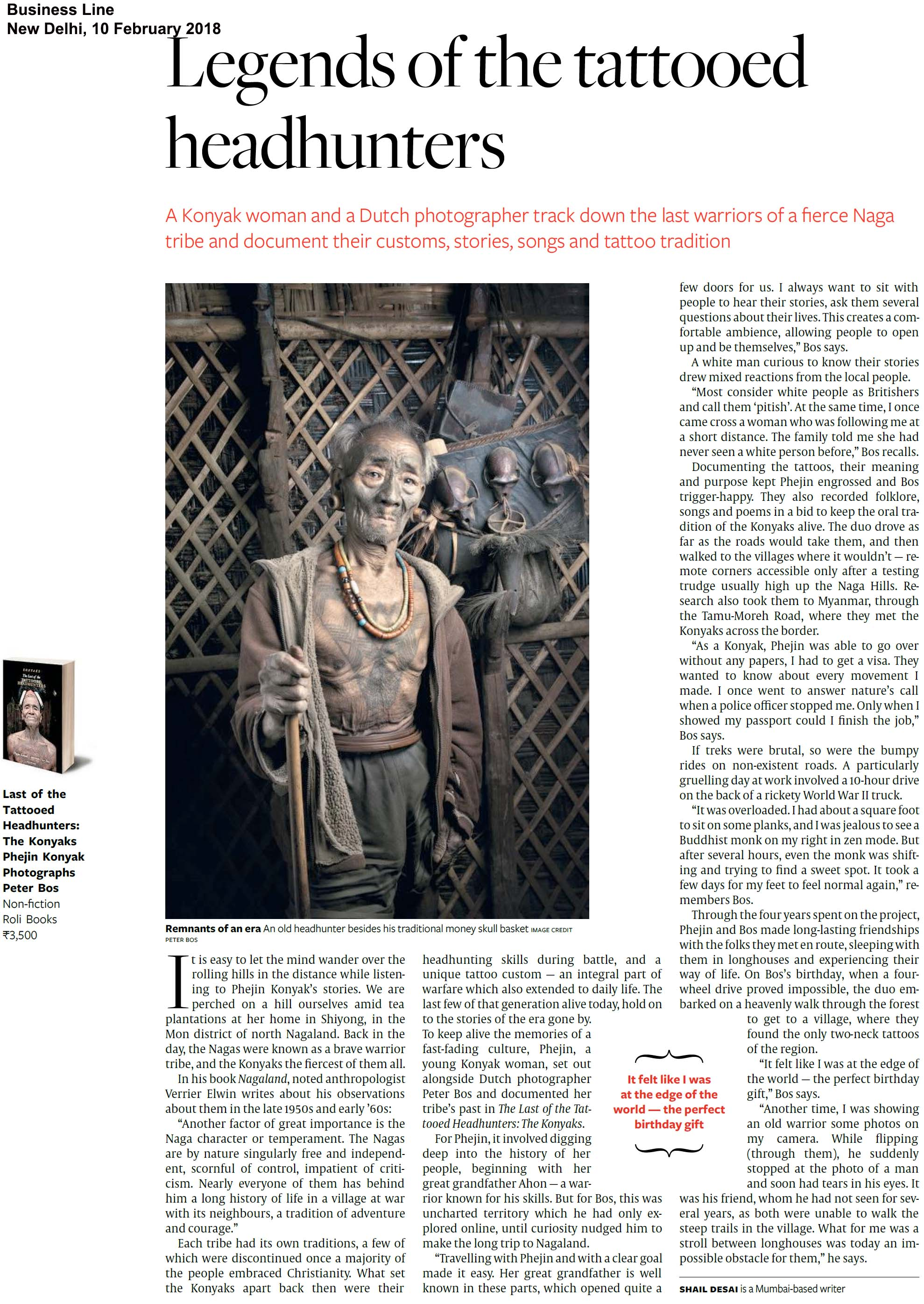 The Konyaks: The Last of the Tattooed Headhunters<br><span>Business Line, New Delhi</span>