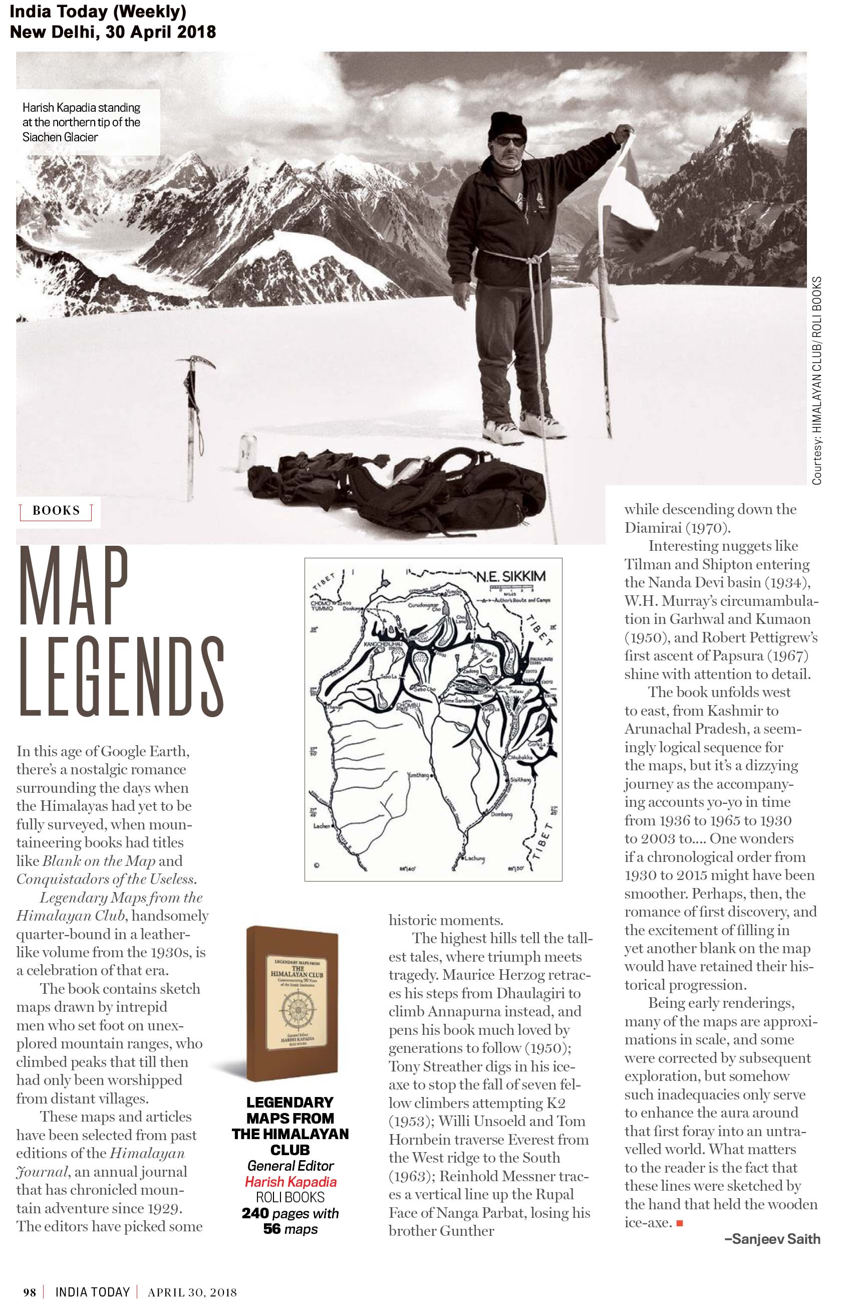 Legendary Maps From The Himalayan Club<br><span> India Today (Weekly), New Delhi</span>