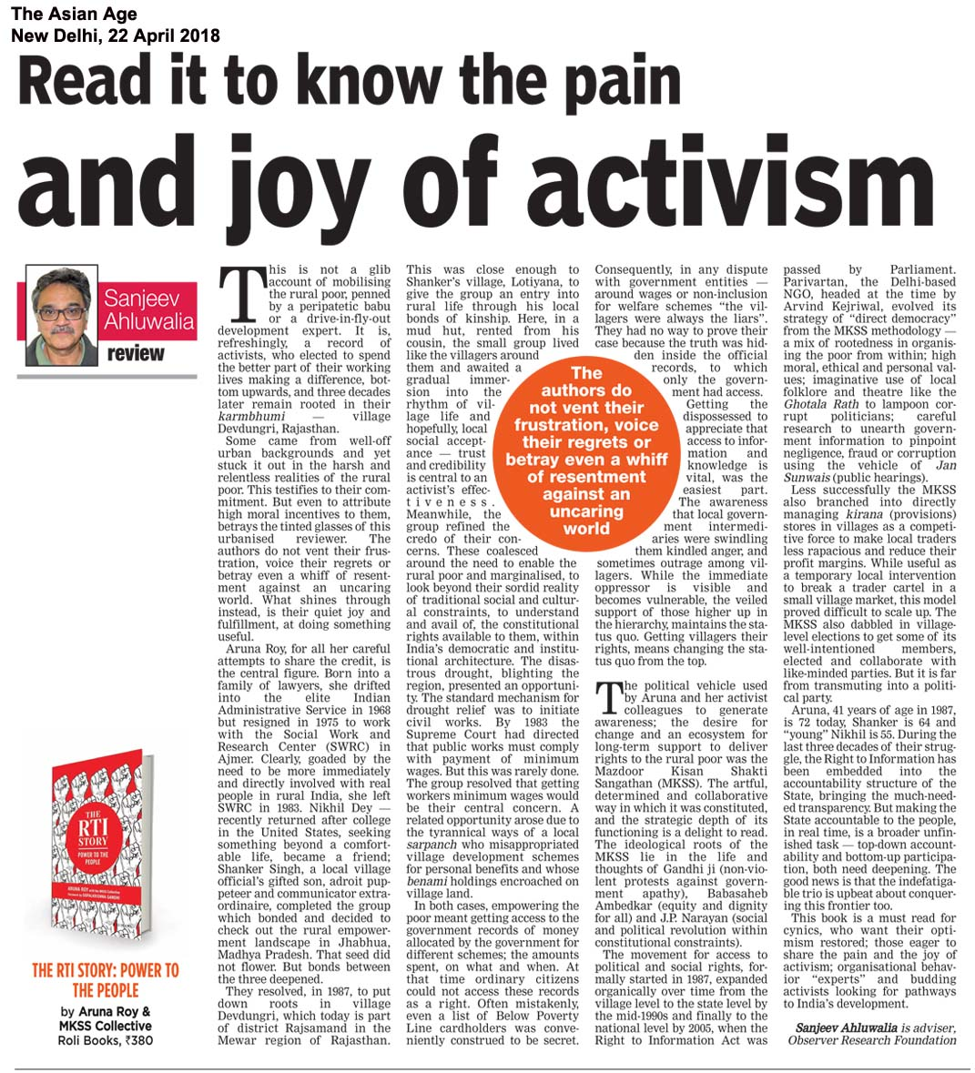 The RTI Story<br><span>The Asian Age, New  Delhi</span>