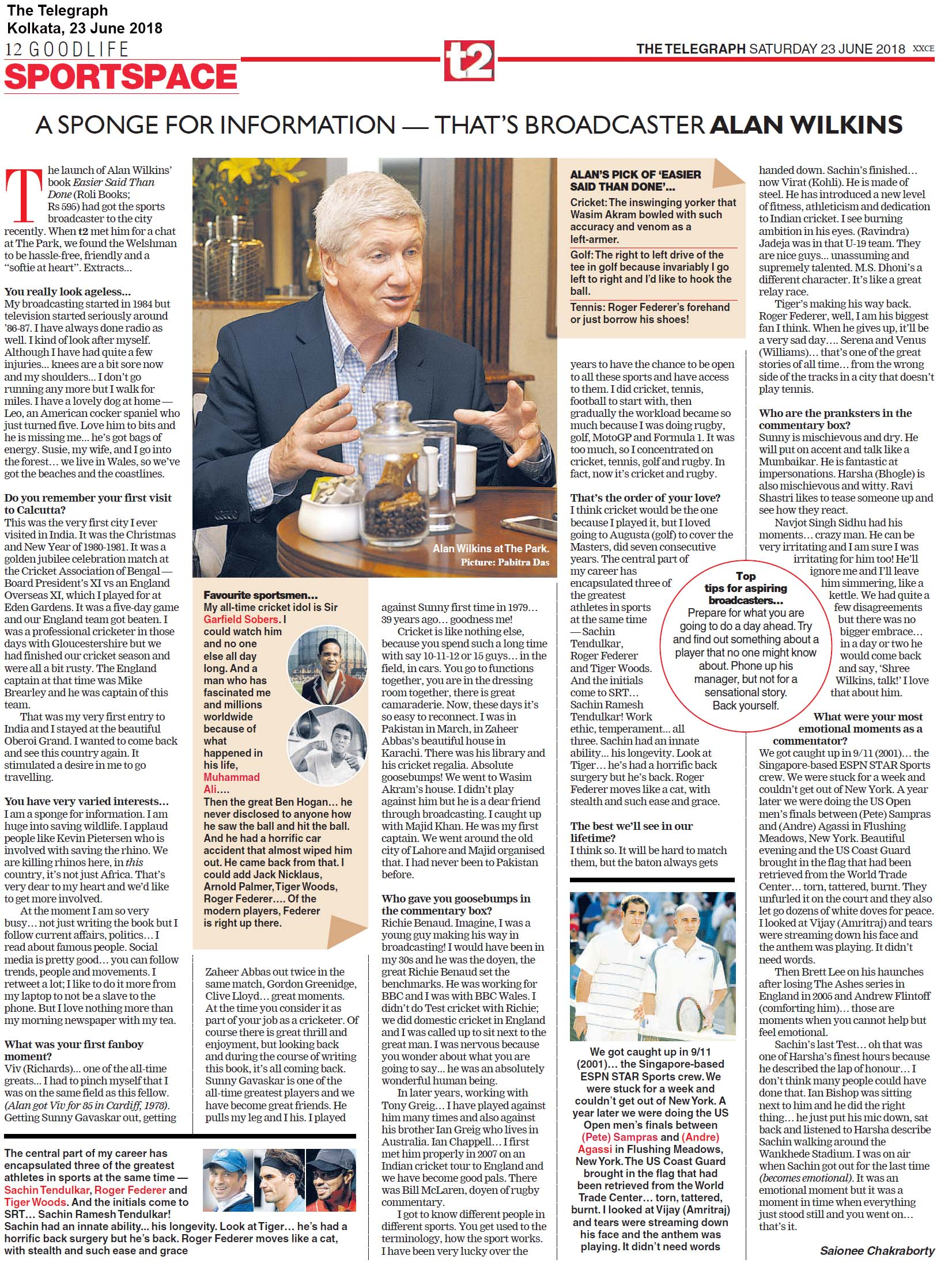 EASIER SAID THAN DONE<br><span> The Telegraph, Kolkata </span>