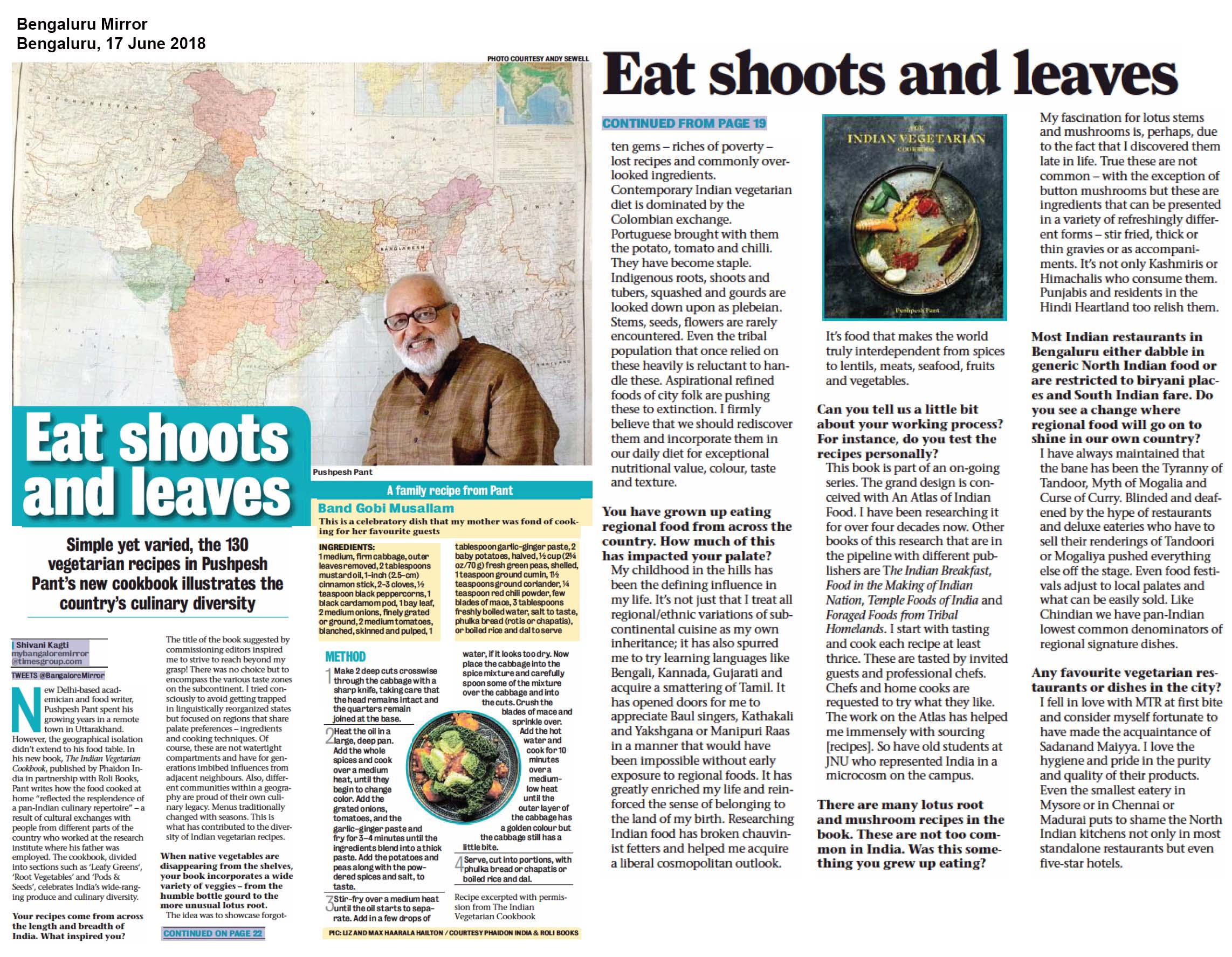 Eat shoots and leaves<br><span> Bengaluru Mirror, Bengaluru</span>