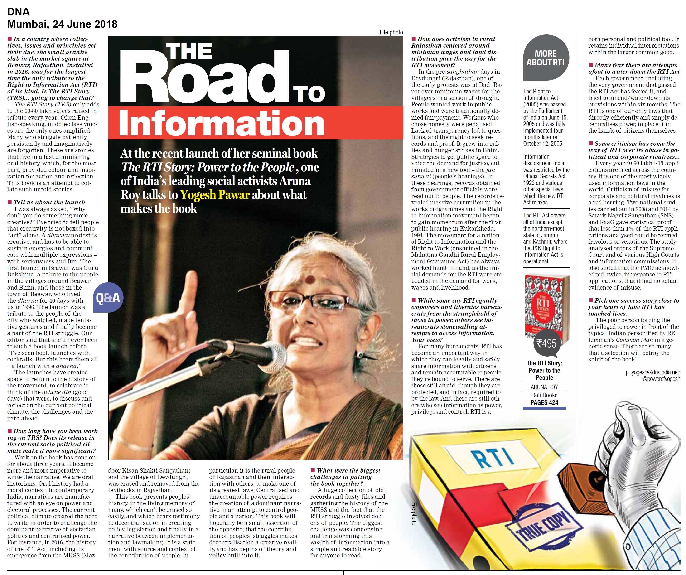 The RTI Story<br><span>DNA, Mumbai</span>
