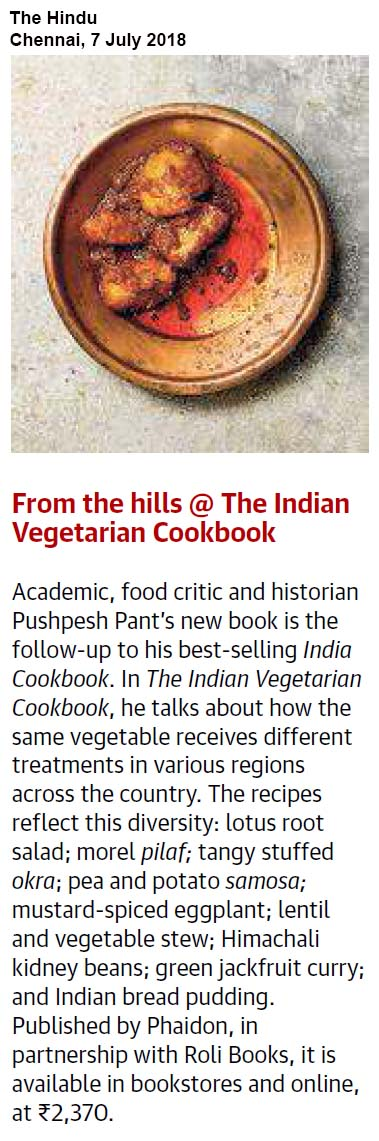 The Indian Vegetarian Cookbook<br><span> The Hindu, Chennai </span>